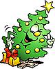 Vector clipart: Christmas Tree Cartoon