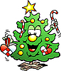 Vector clipart: Happy Christmas Tree