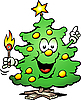 Vector clipart: Christmas Tree With match