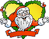 Vector clipart: Welcoming Santa Claus