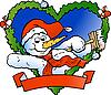 Welcoming Snowman | Stock Illustration