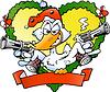 Angry christmas duck | Stock Vector Graphics
