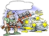 Auto painter with two mega pumpgun | Stock Illustration