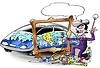 Фото 300 DPI: Творческий художник на авто