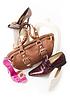 现代静物与鞋和包 | 免版税照片
