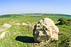 Rural landscape with big stone | Stock Foto