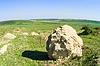 农村景观与大石头 | 免版税照片
