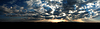 Panorama of colorful sunset   Stock Foto