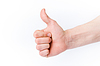 手显示确定标志 | 免版税照片