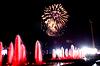 烟花和喷泉 | 免版税照片