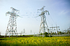Two electrical towers | Stock Foto
