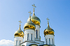 Golden church domes | Stock Foto