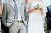 Close-up of bride and groom | Stock Foto