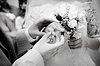 Close-up of newly-married putting on rings | Stock Foto