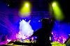 Dj at concert, blurred motion | 免版税照片