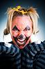 Angry Jack-o-lantern girl | Stock Foto