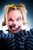 疯狂的杰克邻灯笼的女孩 | 免版税照片