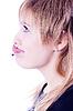 Funny pierced girl | 免版税照片