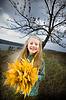 Smiling little girl outside | Stock Foto