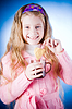 Little girl with tea cup | Stock Foto