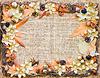 装饰花秋框架 | 免版税照片