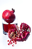 Pomegranate fruits and juice | Stock Foto