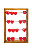 Abacus with red hearts | Stock Foto
