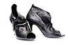 Black matte female shoes | Stock Foto