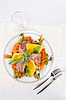 Roasted meat and vegetables | Stock Foto