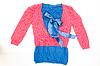 蓝色和红色的女式服装 | 免版税照片