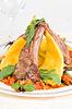 烤的肉类和蔬菜 | 免版税照片
