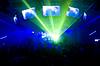 激光表演和音乐 | 免版税照片