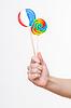 Female hand holding lollipops | 免版税照片