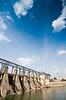 大坝,美丽的Cloudscape | 免版税照片