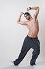 Dancer exercising in studio | 免版税照片