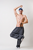 英俊的青年舞蹈家集中 | 免版税照片