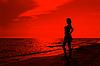 Teenage girl on the beach | Stock Foto
