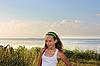 Photo 300 DPI: Girl on the shore