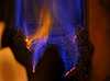 Photo 300 DPI: Natural gas is burning