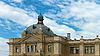 오래 된 철도 역 건물의 외관 | Stock Foto