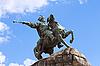 在基辅,乌克兰纪念碑波格丹·赫梅利尼茨基 | 免版税照片