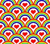 Seamless rainbow pattern  | Stock Vector Graphics
