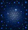 Vector clipart: night sky with stars