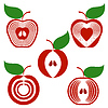 Vector clipart: simple apples set