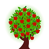 Vector clipart: apple tree