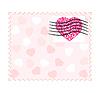 Vector clipart: valentine stamp