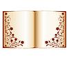 Векторный клипарт: Открытая книга с цветочным декором Isola