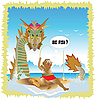 Vector clipart: Dragon cartoon