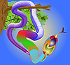 Vector clipart: tropical snake