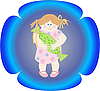 Vector clipart: girl with candy